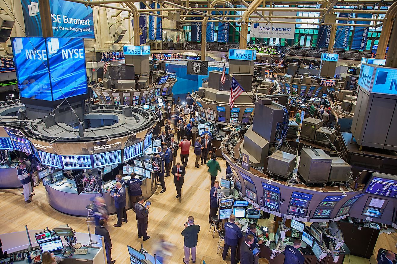 Busy trading floor of the New York Stock Exchange. Image credit: Bart Sadowski/Shutterstock.com