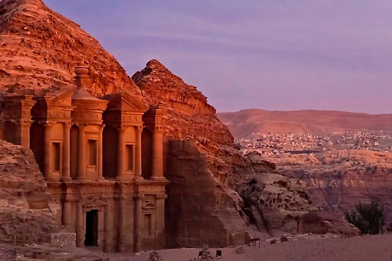 Ad Deir, one of the finest examples of old Nabataean architecture in Petra.