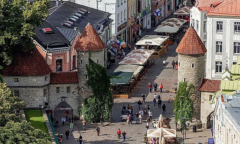 Tallinn, the biggest city in Estonia is also the capital city of the country.