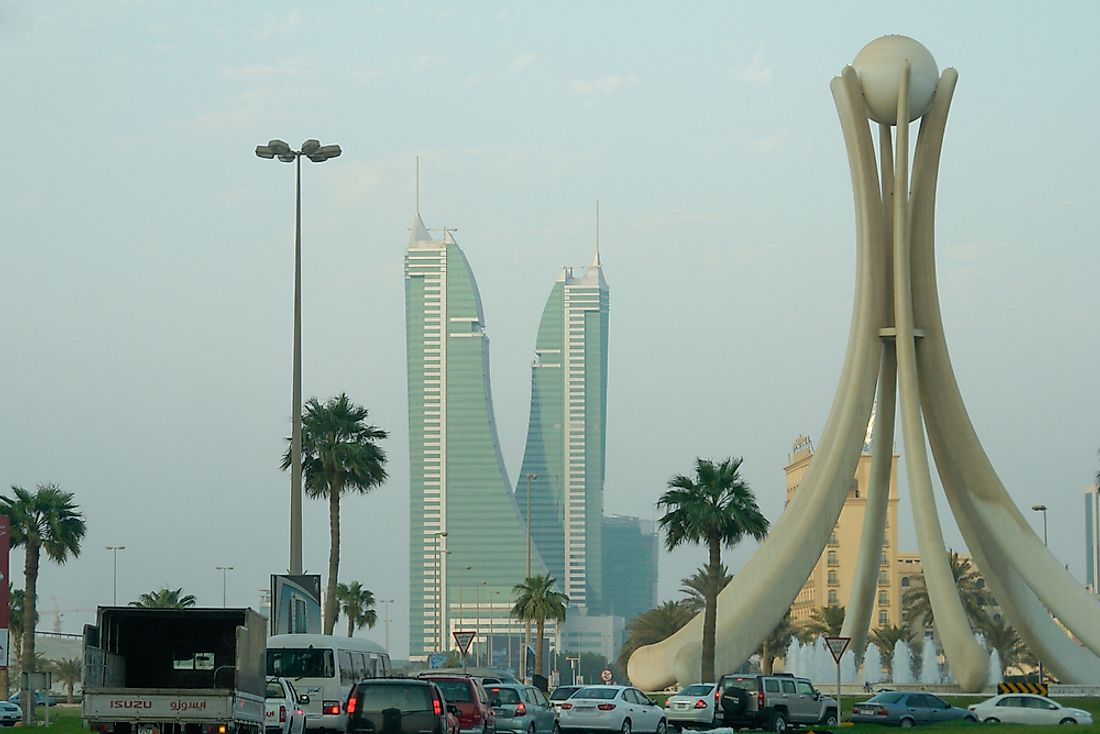 The Pearl Monument in Bahrain. Editorial credit: Orhan Cam / Shutterstock.com.