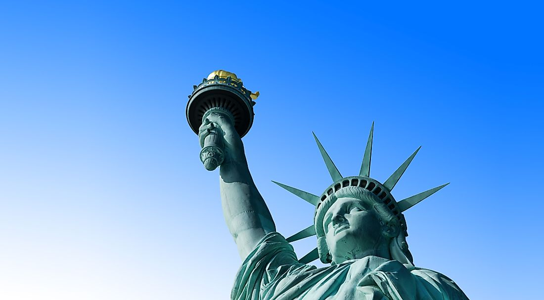 The famous Statue Of Liberty.