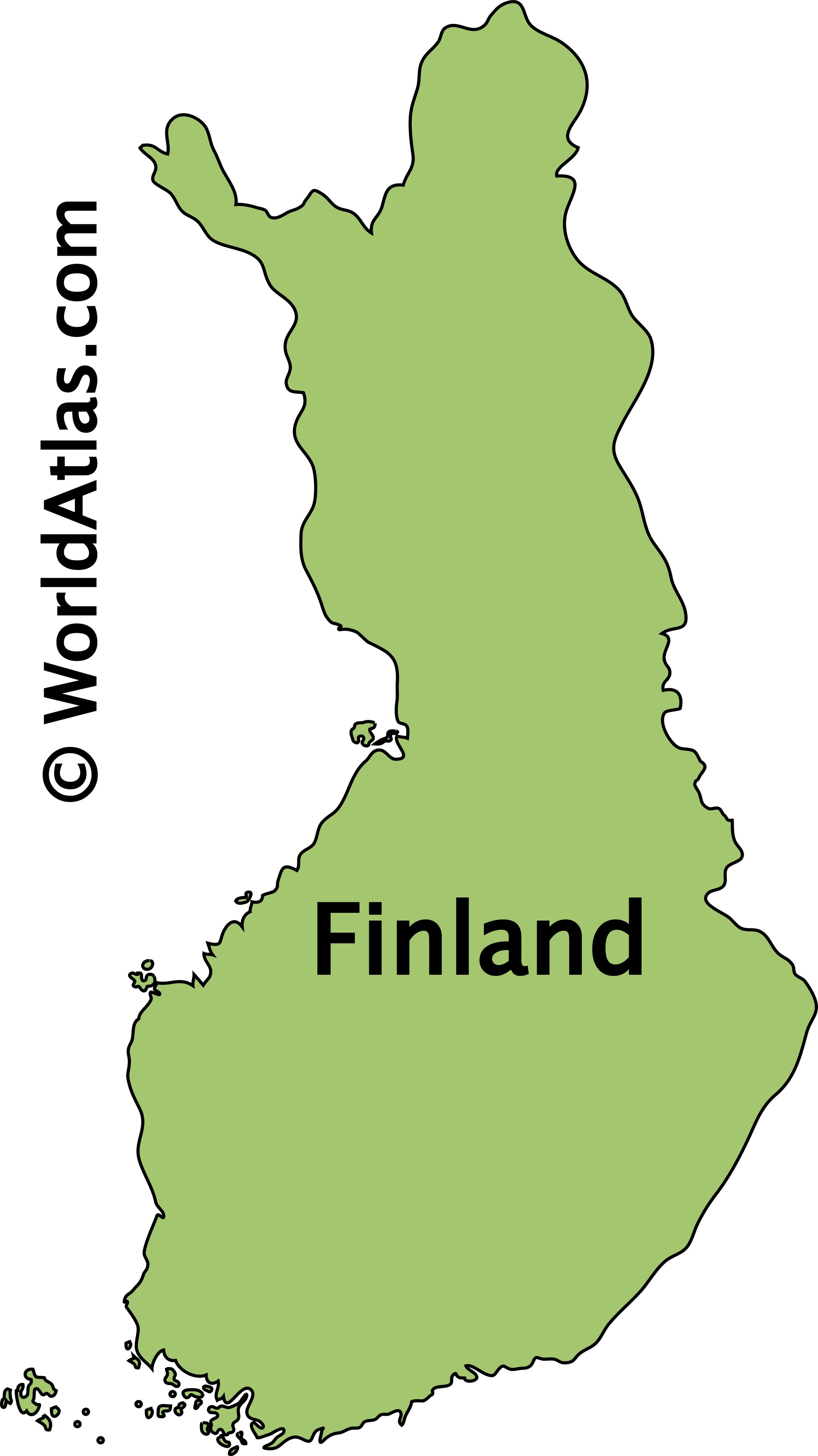 Outline Map of Finland