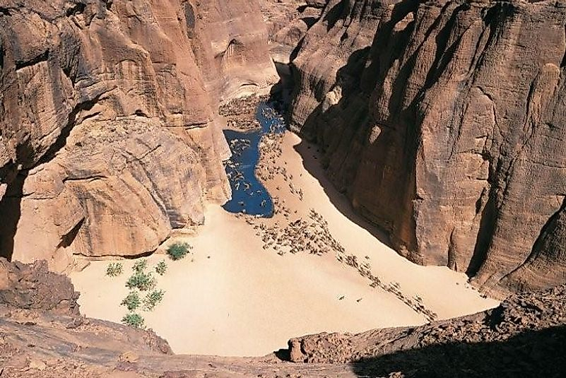 A canyon within the Ennedi Site.