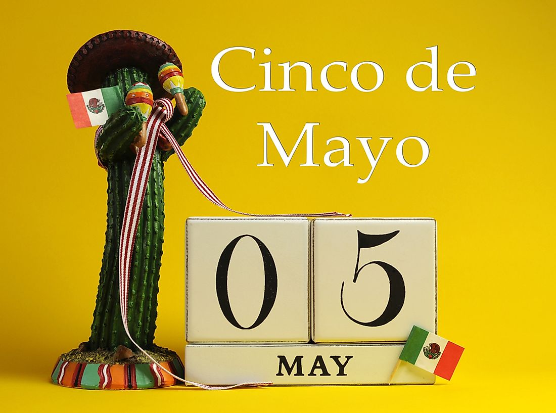 Cinco de Mayo, as the name would suggest, is celebrated on the fifth of May.