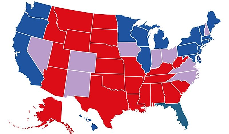 Image result for red state/blue state map