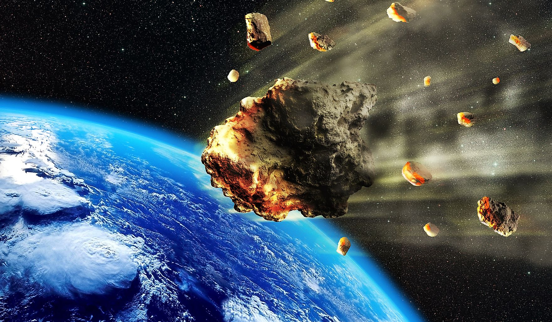 Asteroid impact on Earth is considered to be one of the major