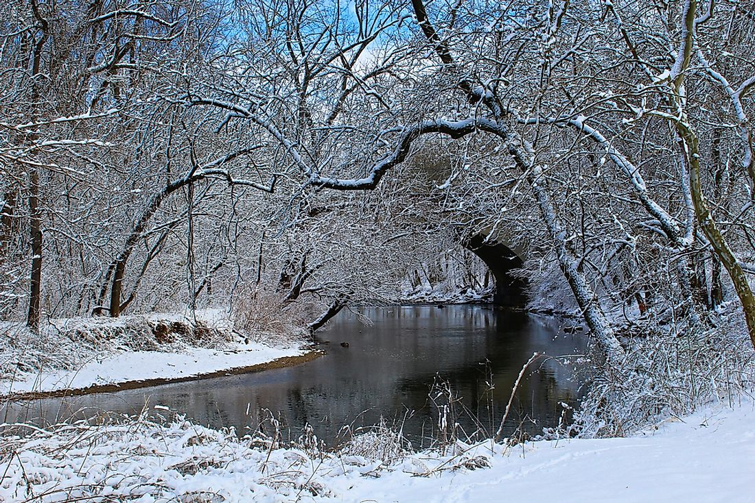 The Creek of Pennypack, home of the oldest bridge in the United States.