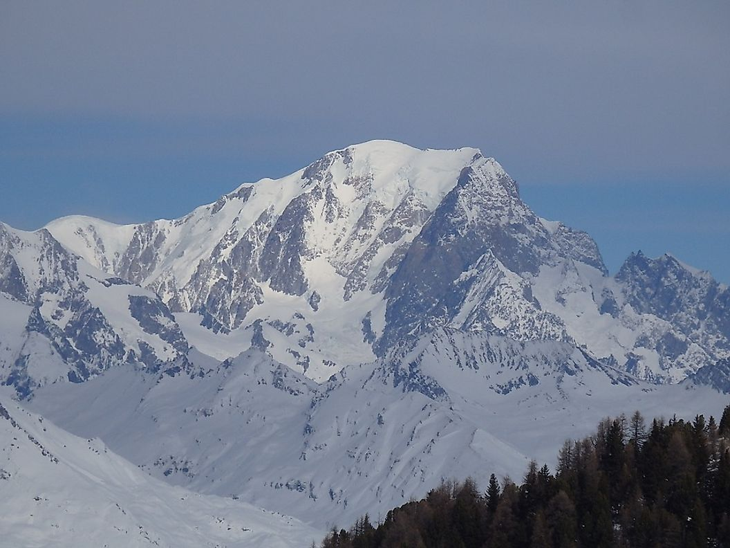 Mont Blanc, the tallest peak in the Alps, is also well-known for its spectacular beauty.