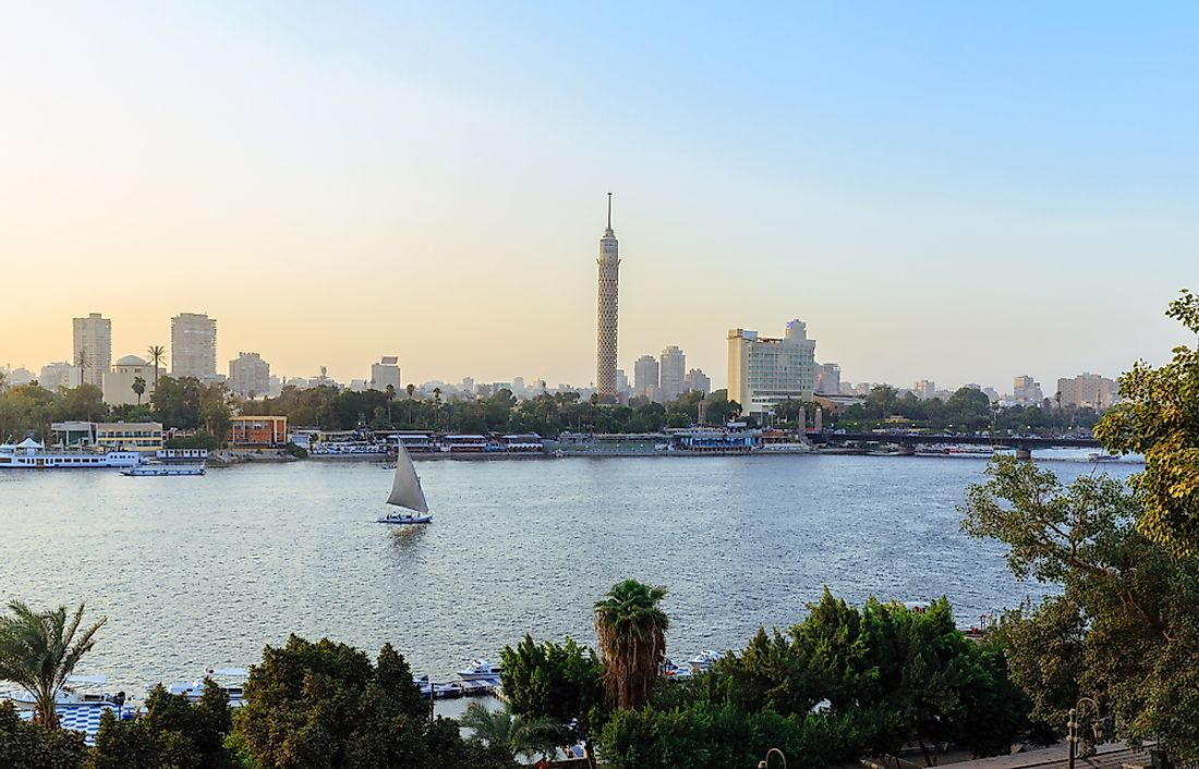 The Nile River near Cairo.