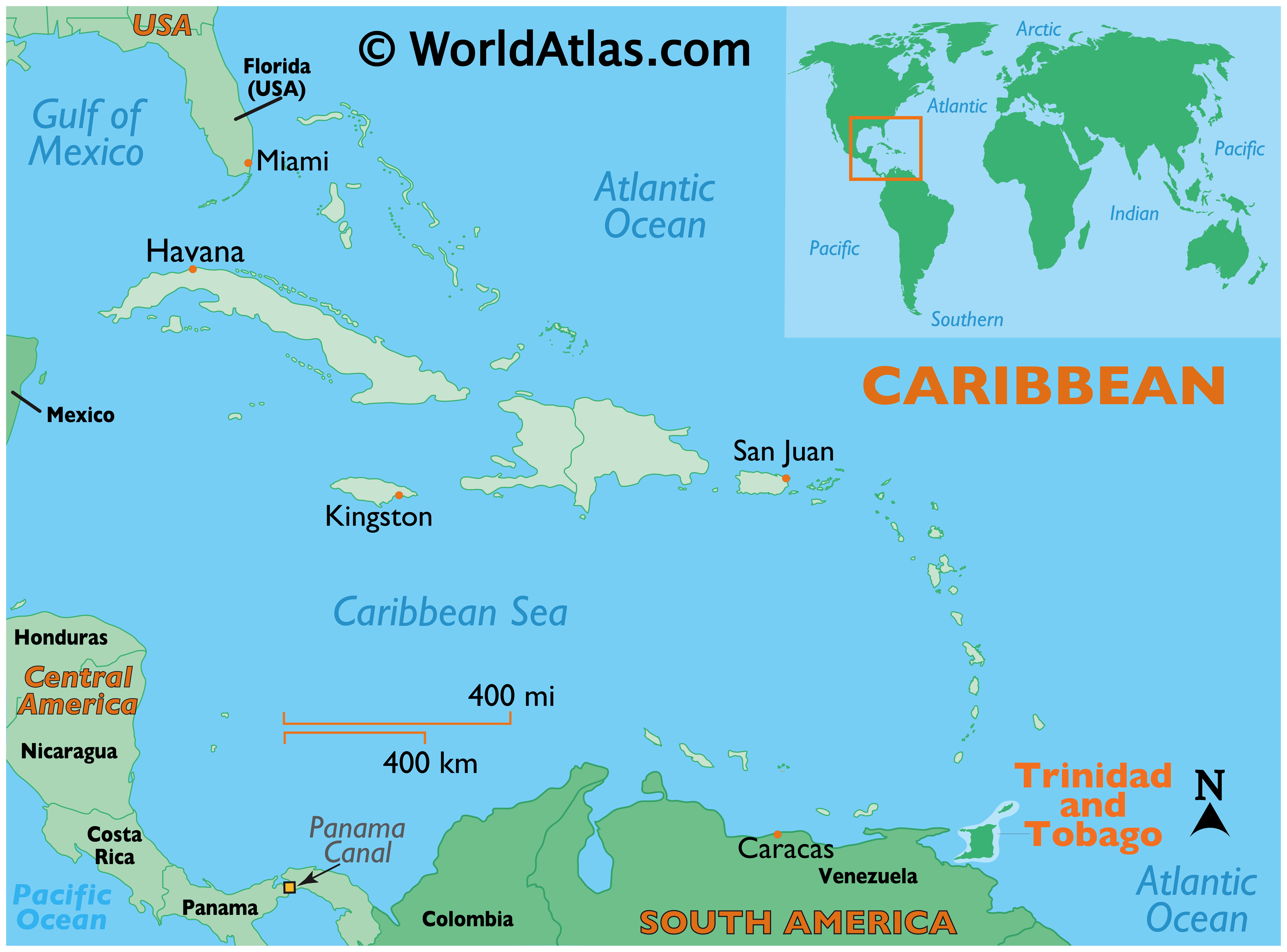 Image of: Trinidad And Tobago Maps Facts World Atlas