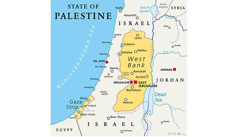 What is the Gaza Strip? Who Controls It? - WorldAtlas.com Map Israel Gaza on jerusalem to gaza map, israel west bank map, west bank and gaza map, 2014 israel map, gaza strip map, israel gaza strip,