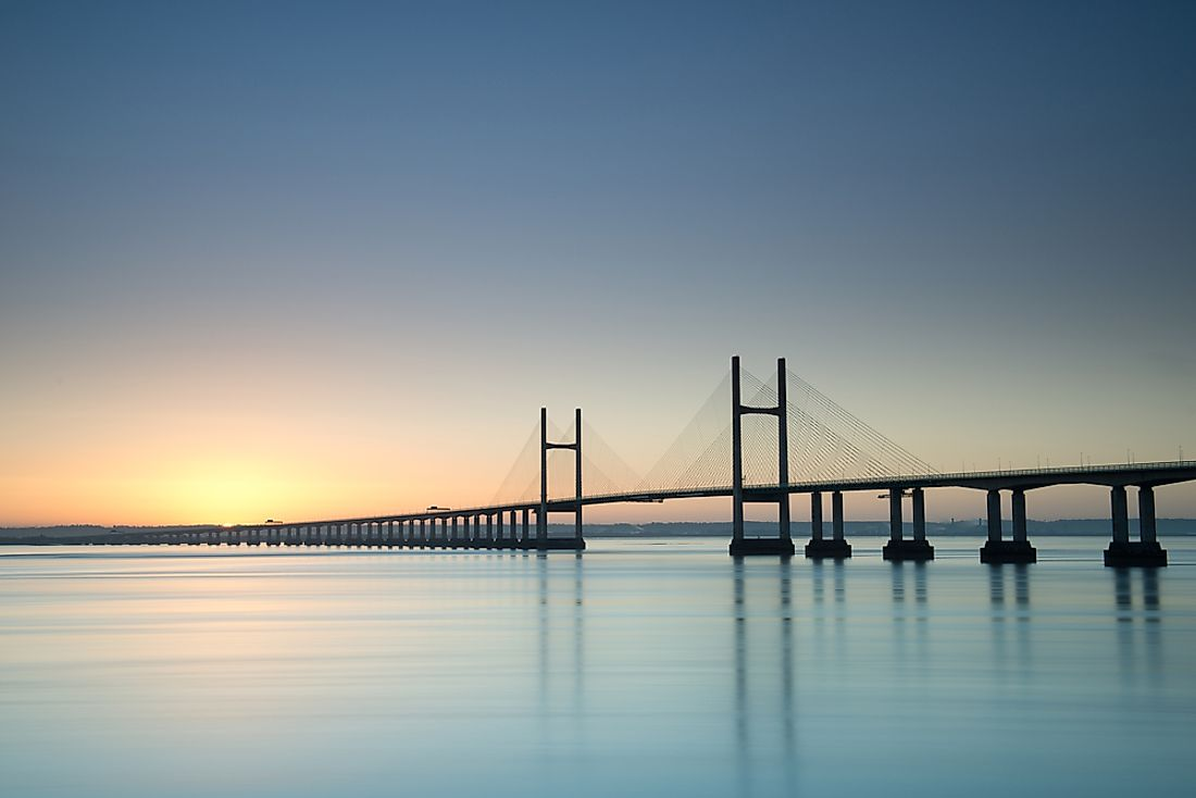 Severn Bridge is the first road crossing connecting England and Wales.