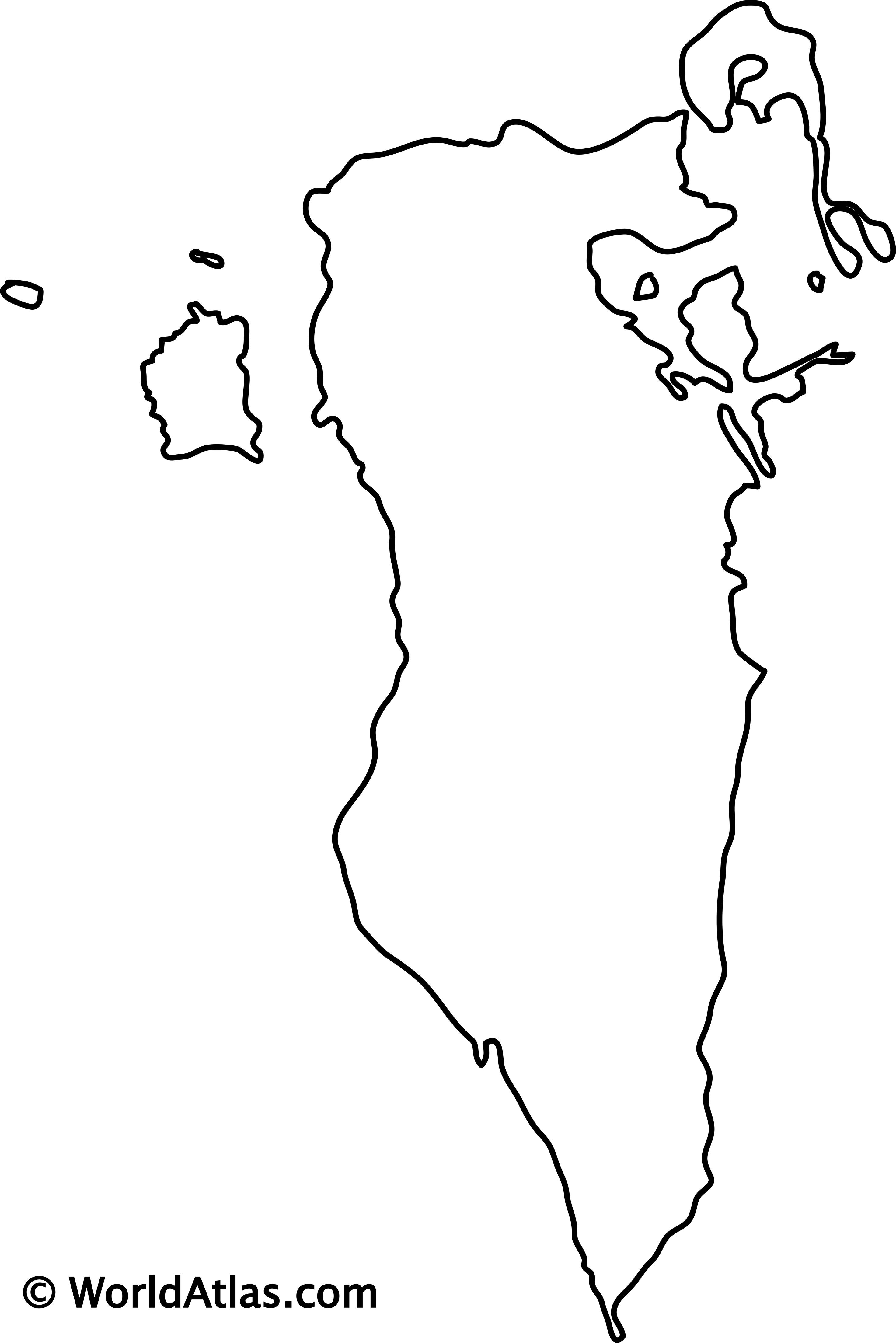 Blank Outline Map of Bahrain