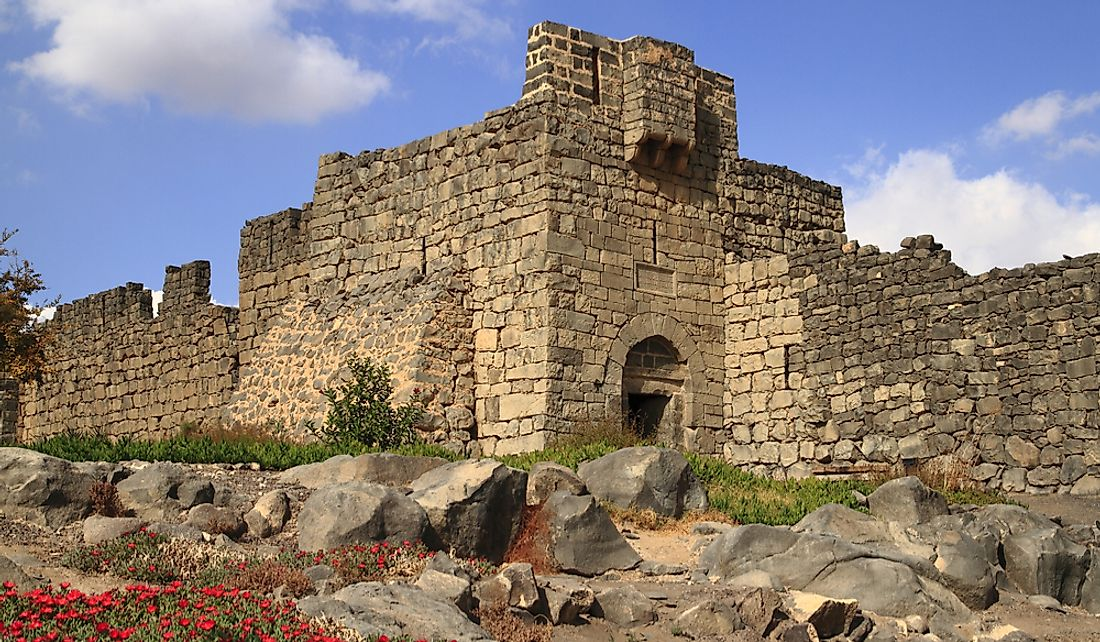 Qasr al-Azraq was the headquarters of Thomas Edward Lawrence's Arab Revolt.