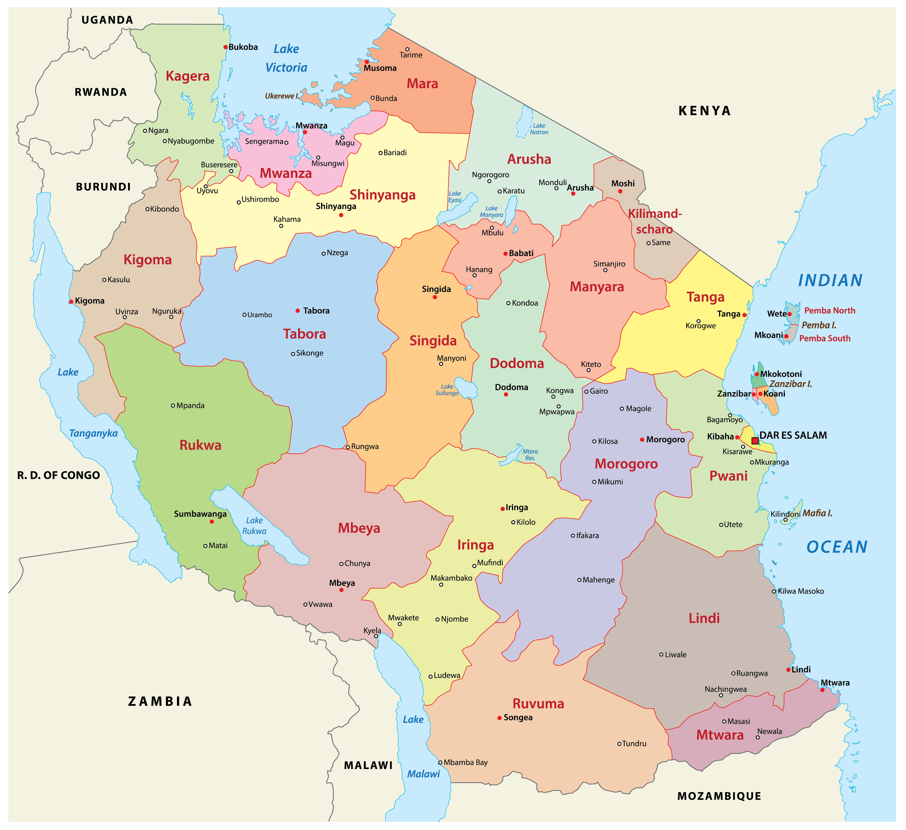 Picture of: Tanzania Maps Facts World Atlas