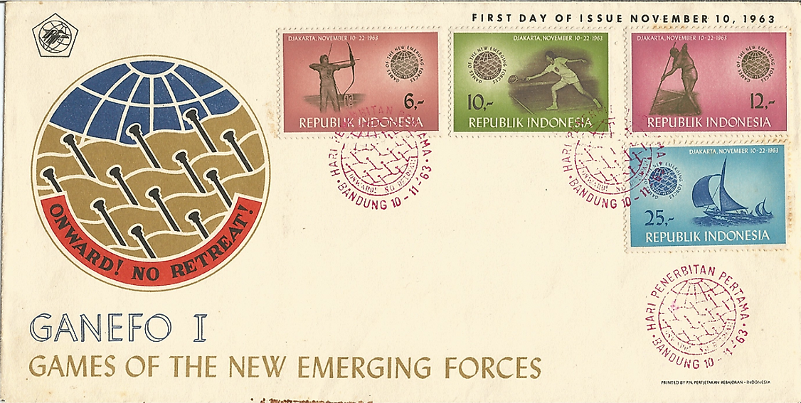 "Commemorative stamps of the ""1st Games of the New Emerging Forces."""