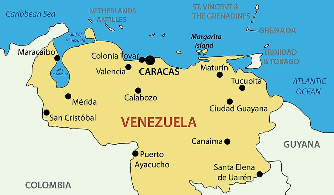 Which Countries Have A Coastline On The Gulf Of Venezuela ...