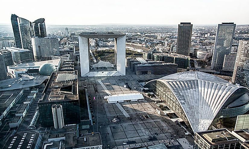La Défense in France is the largest business district in Europe.
