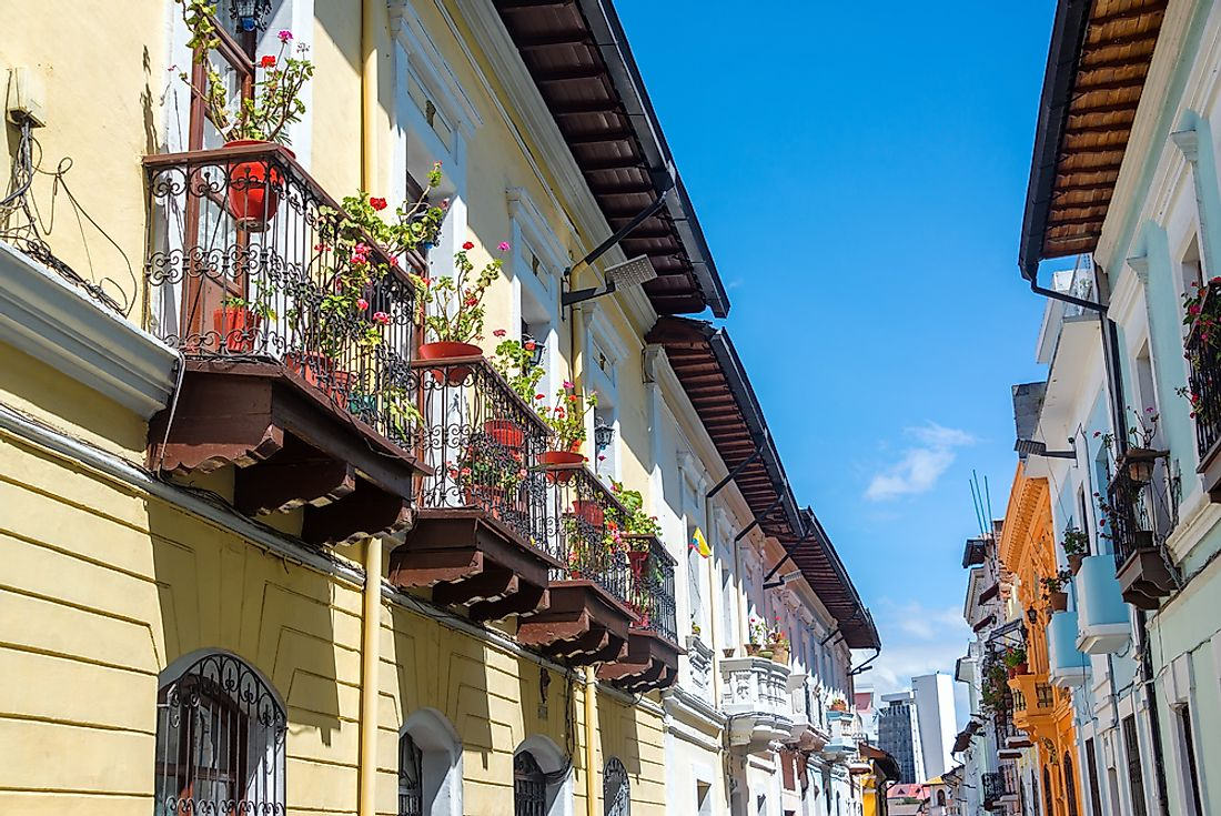 The historic center of Quito has been extremely well-preserved.
