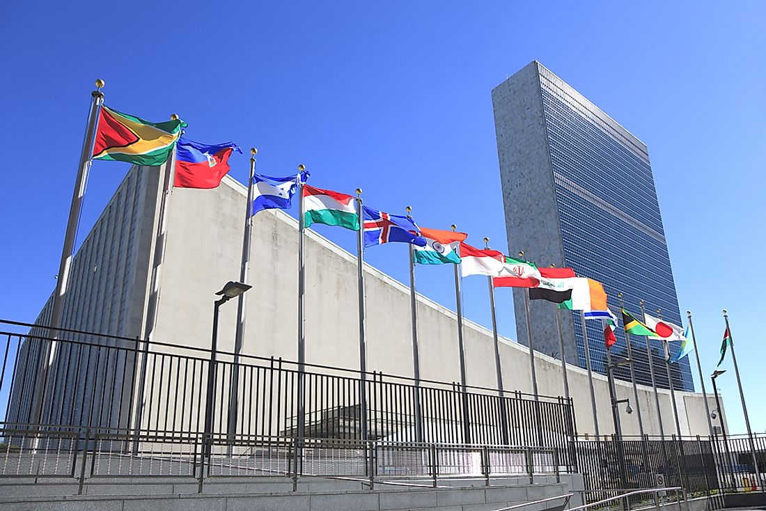 The headquarters of the United Nations in New York. Editorial credit: Osugi / Shutterstock.com.