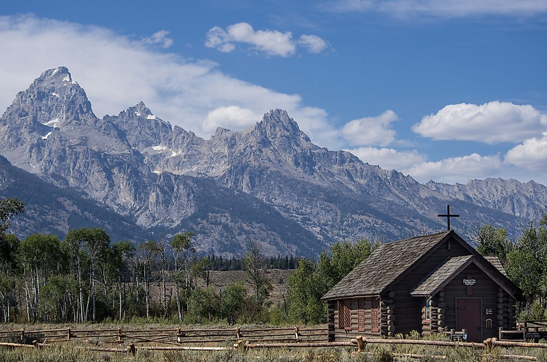 Chapel of the Transfiguration in Wyoming's Grand Teton National Park.