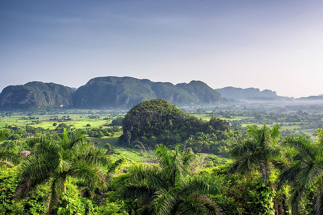 Mogotes in the Vinales Valley, Cuba.