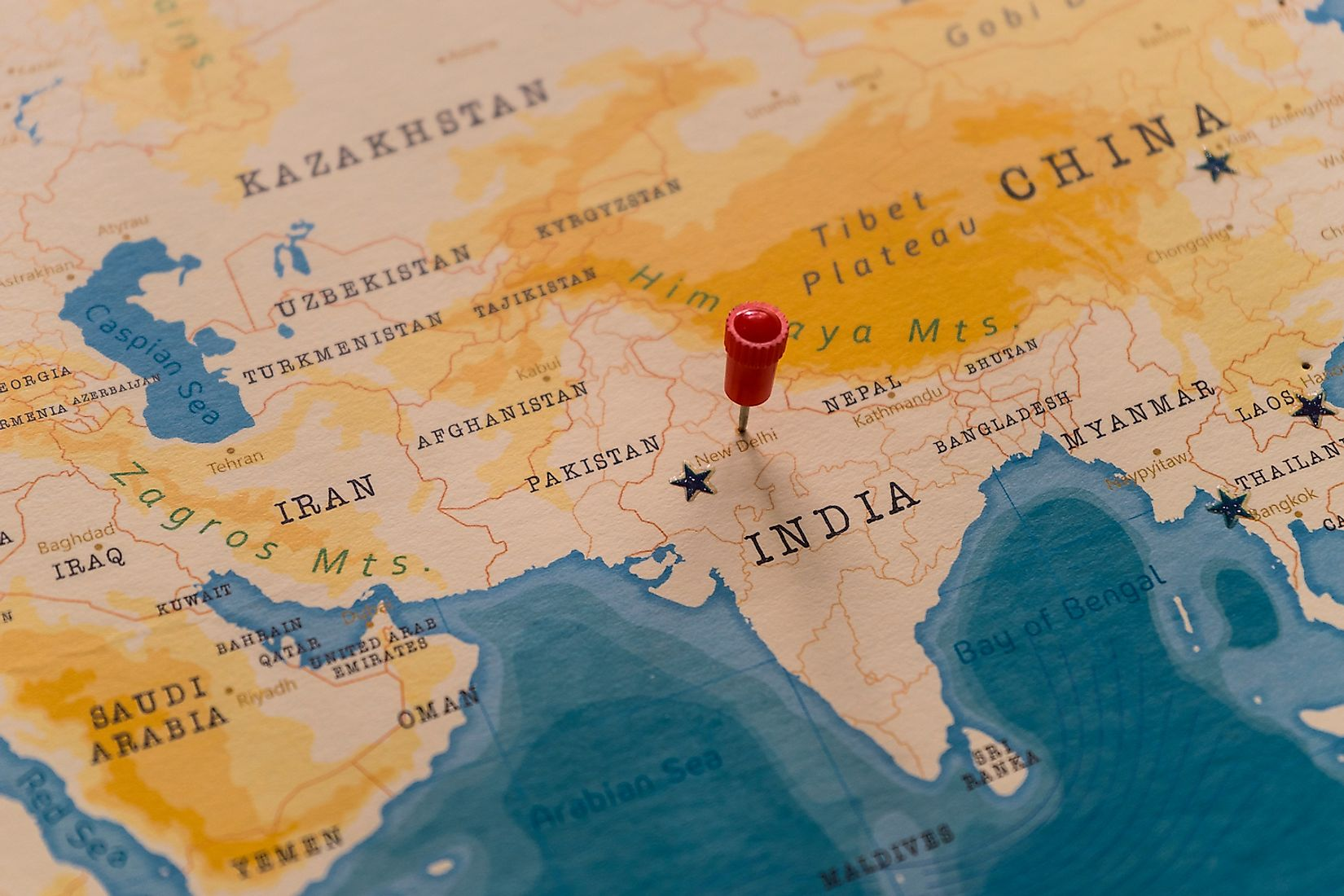 India is one of countries in South Asia. Image credit: Hyotographics/Shutterstock.com