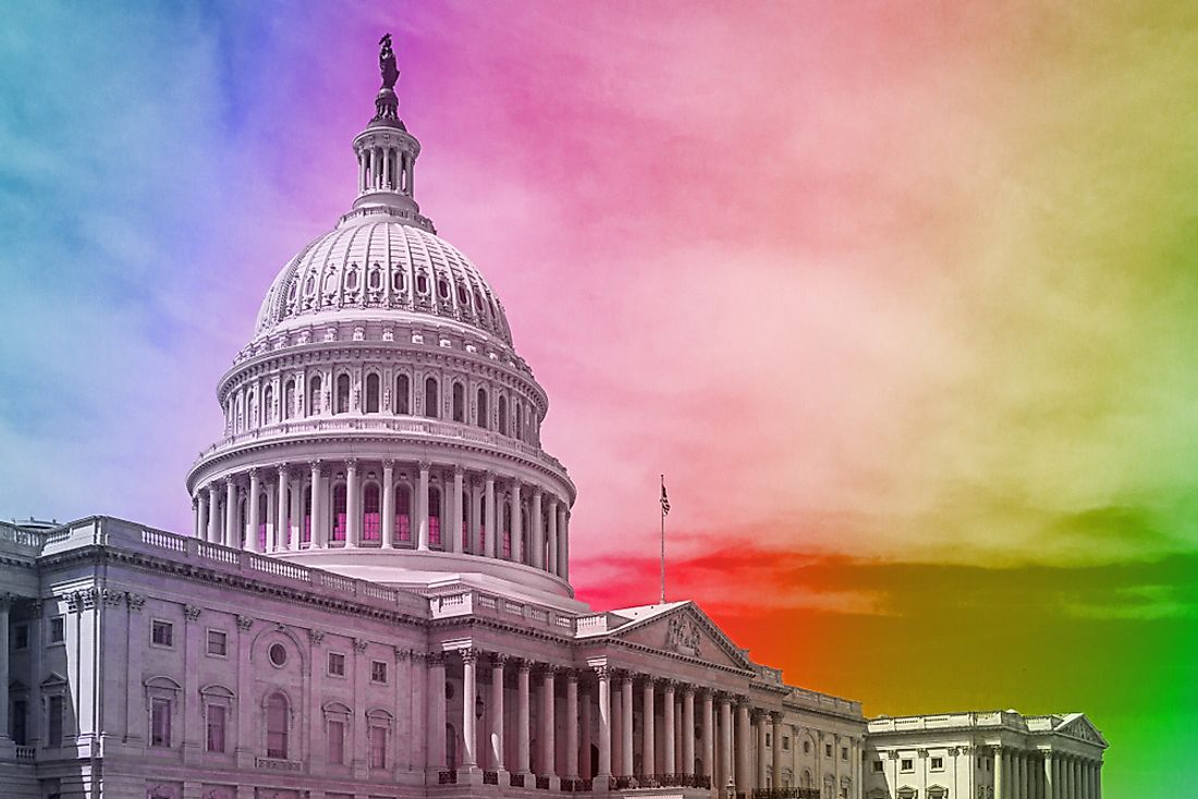 US Congress currently has a record number of openly LGBT members.
