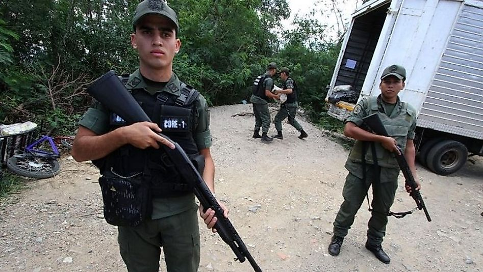 Venezuela's customs and border patrol policies are extremely stringent due to drug, arms, and human smuggling concerns.