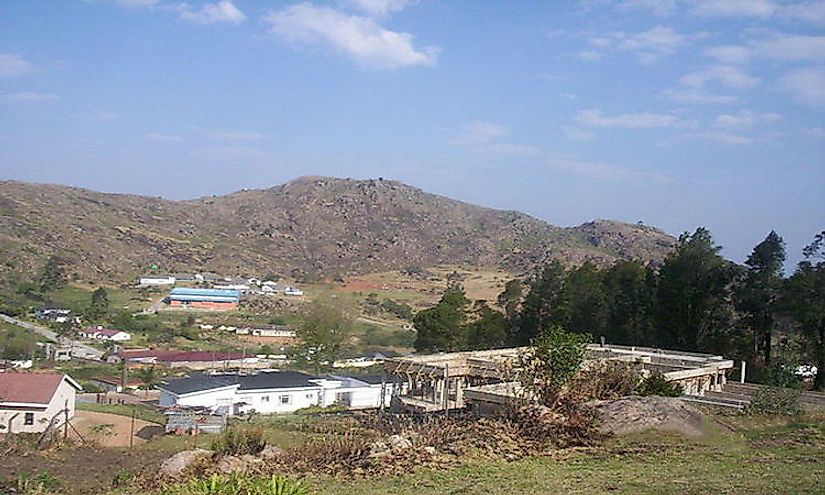 Mbabane, the capital city of Swaziland.