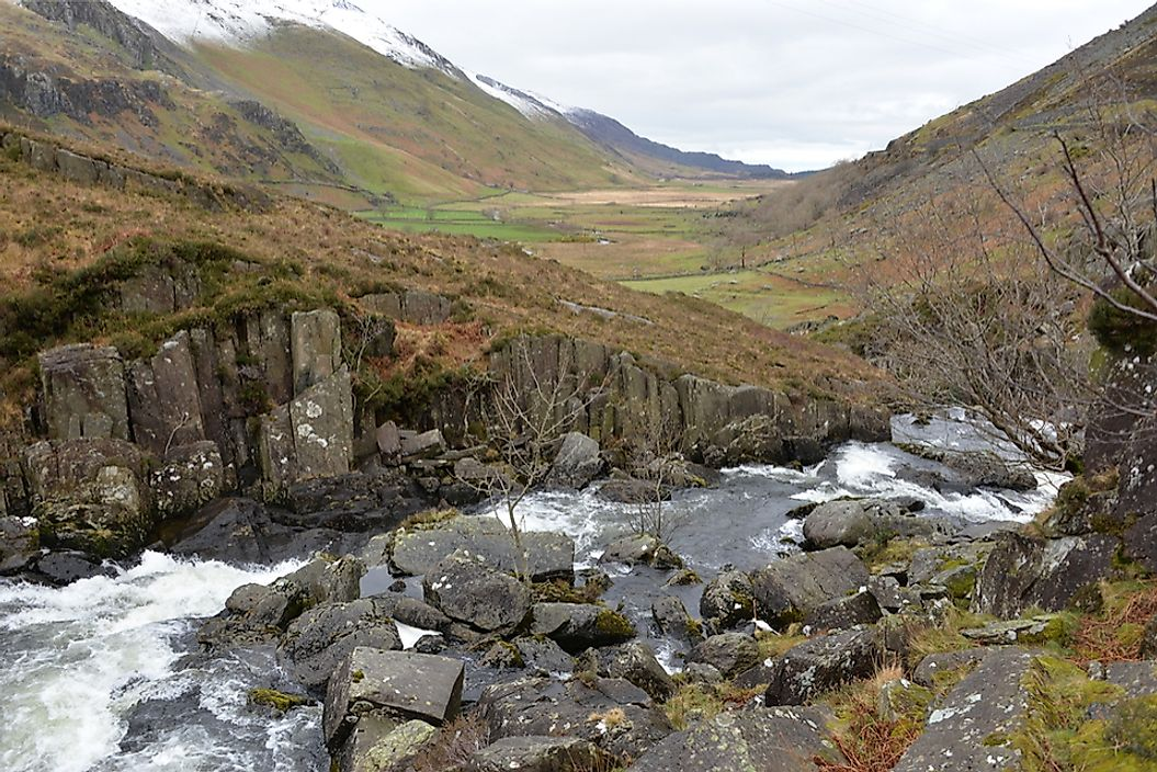 Nant Ffrancon Valley in Wales.