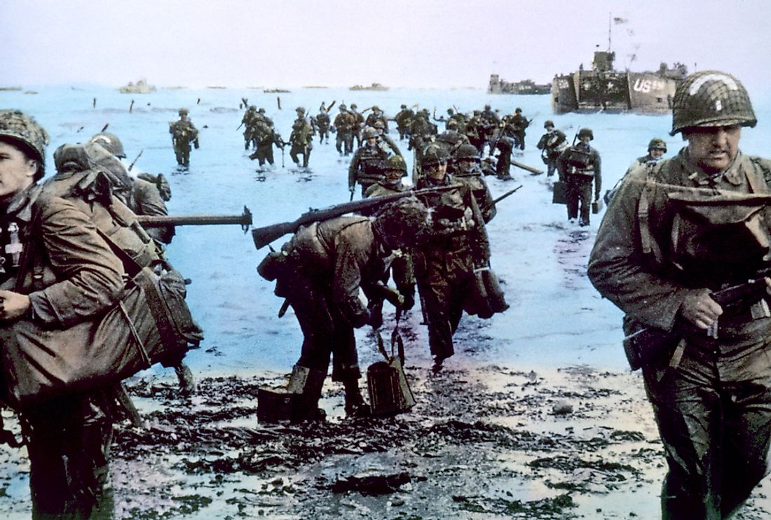 The Battle of Normandy, World War II. World War II is considered to be the deadliest war of all time.