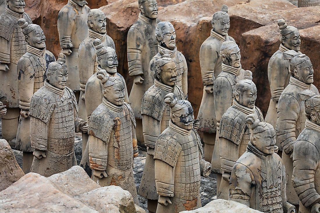 The burial pit contained 8,000 Terracotta soldiers. Editorial credit: humphery / Shutterstock.com