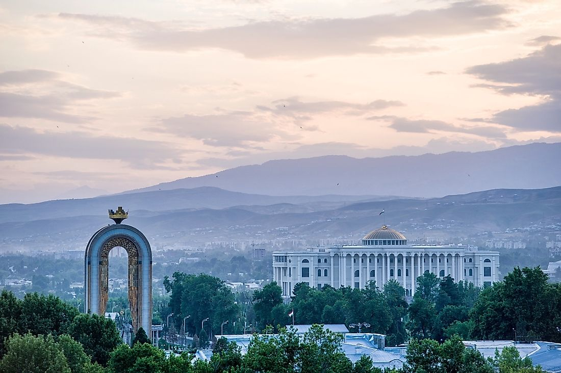Dushanbe, the capital of Tajikistan.