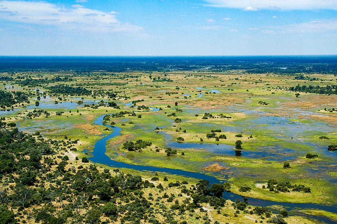The Okavango Delta of Botswana.