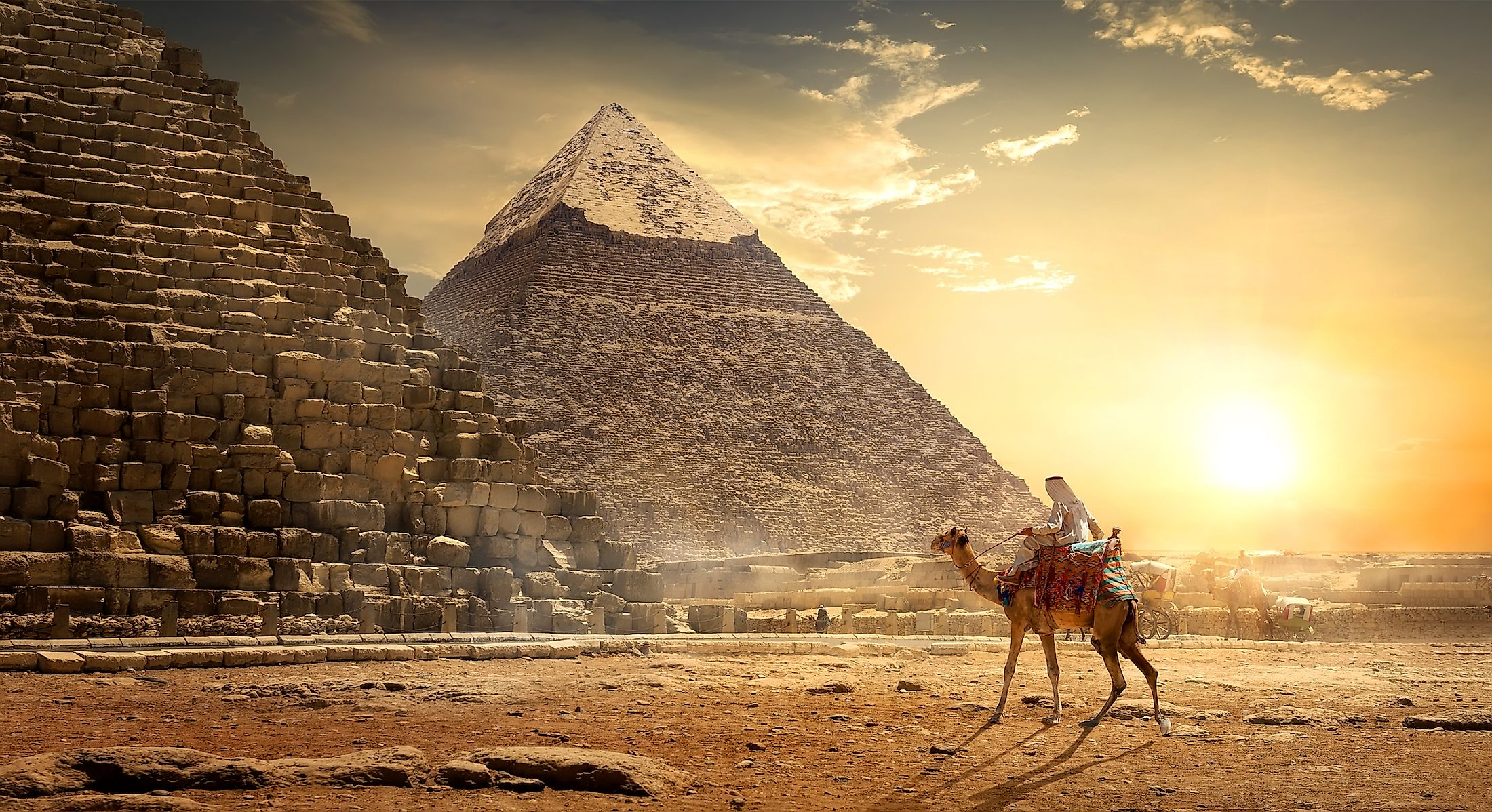 The Pyramids of Giza.