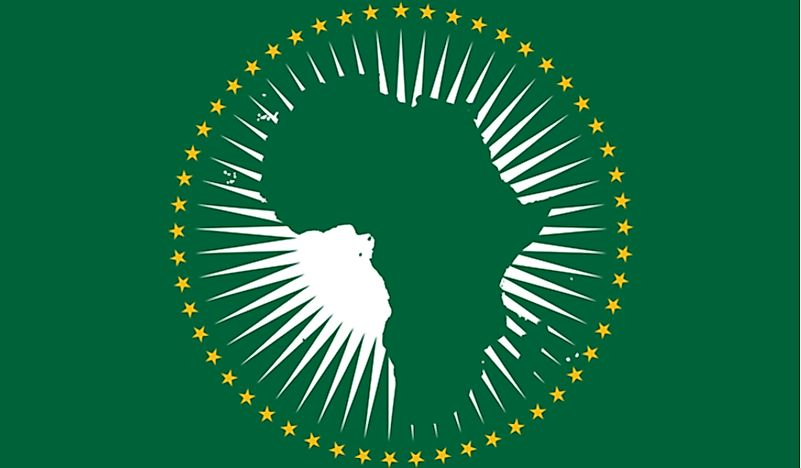 The flag of the African Union.