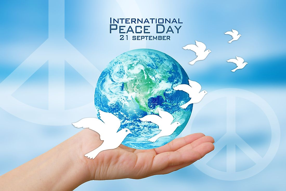 September 21 is set aside from the International Day of Peace or World Peace Day.