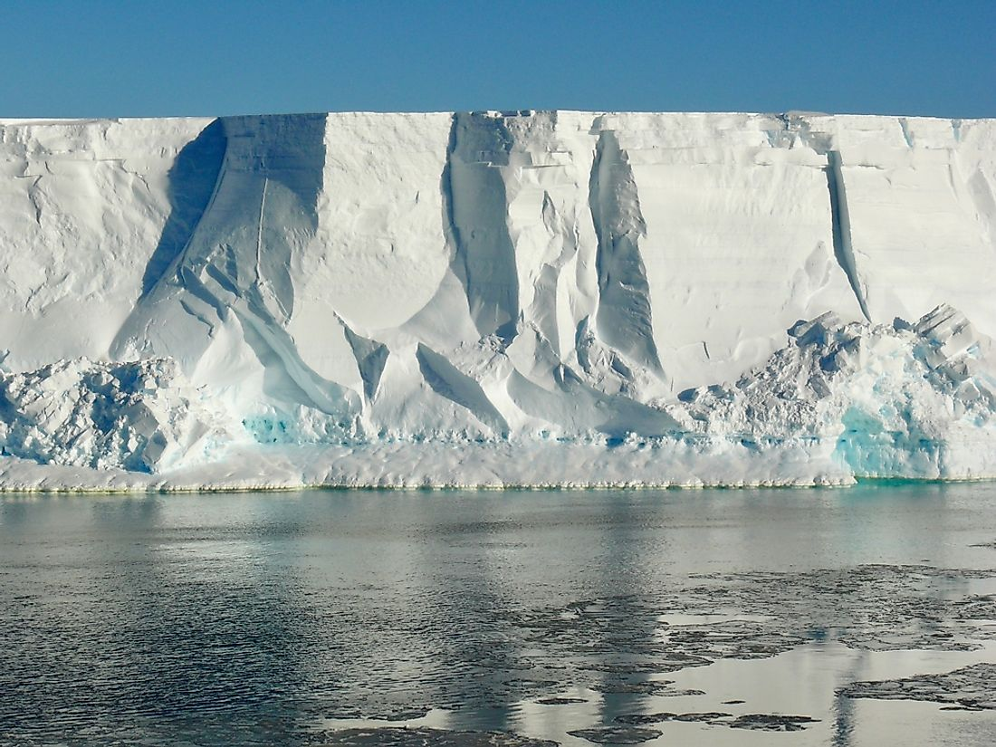 Ross Ice Shelf is the largest ice shelf in Antarctica.