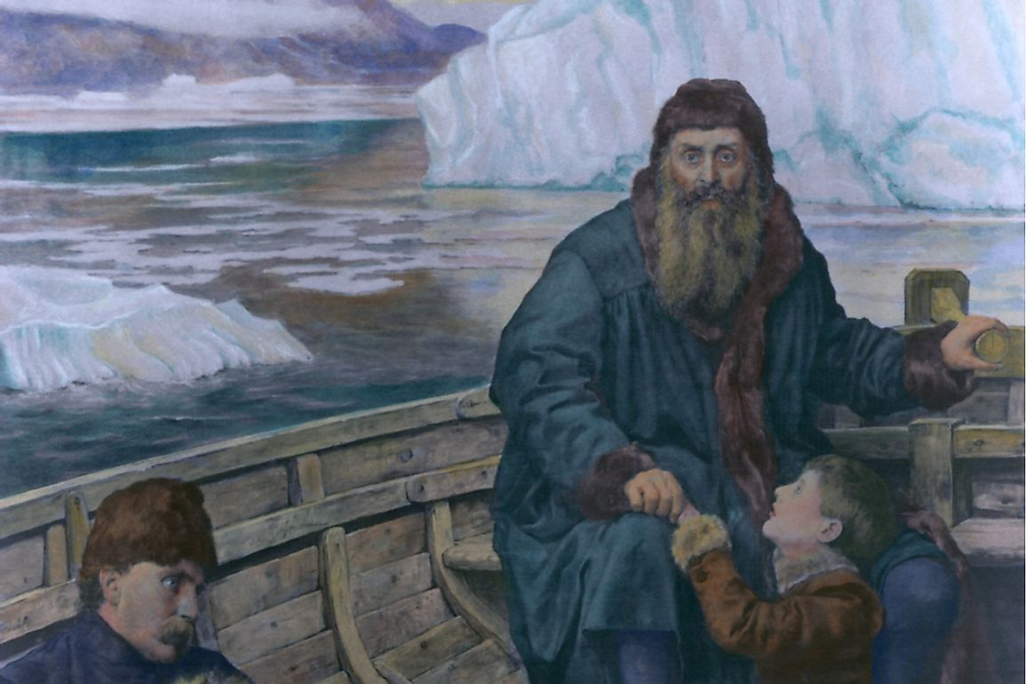 Henry Hudson and his son, banished to their icy fates by mutineers.