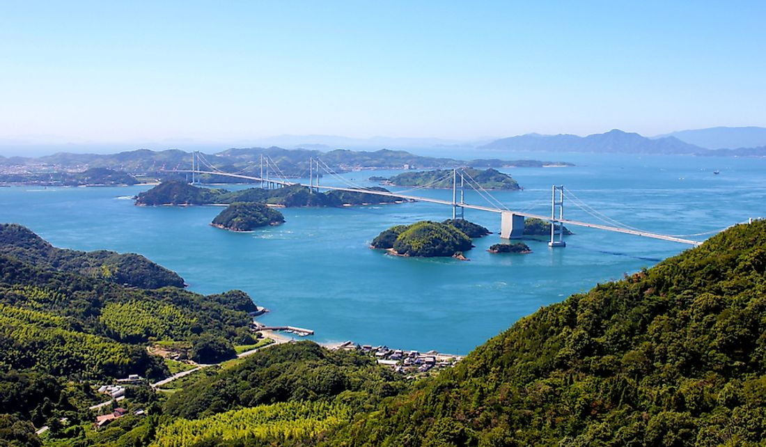 The Seto Inland Sea is home to thousands of islands.