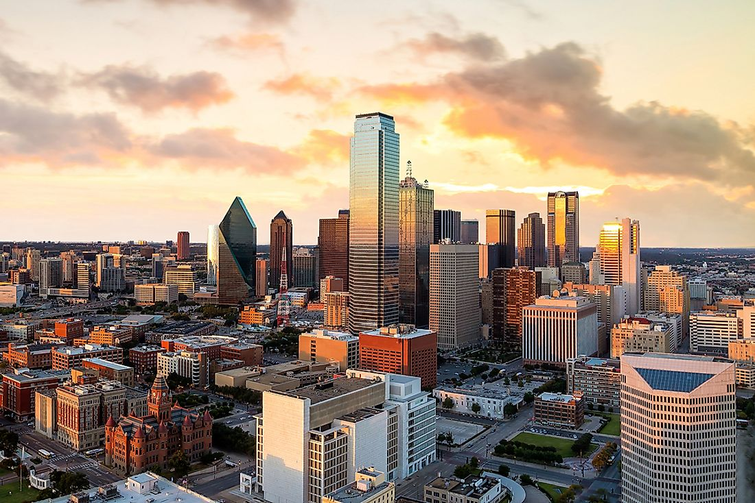 Dallas, the third largest city in the state of Texas.