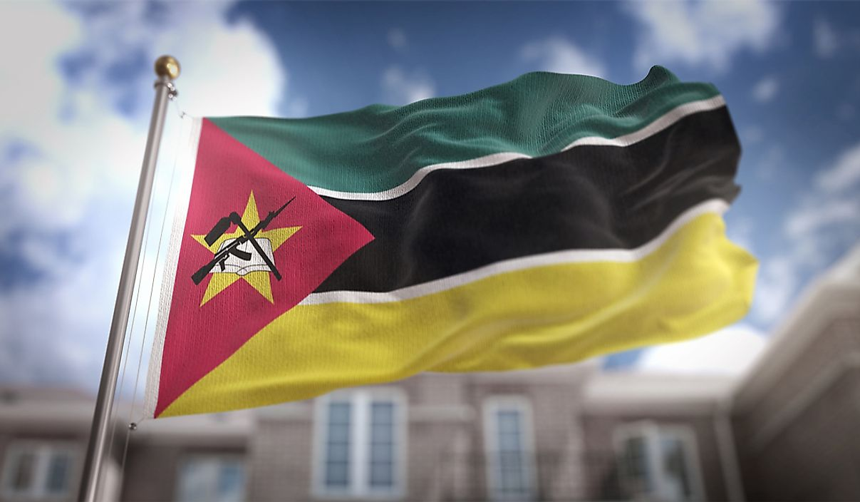 The flag of Mozambique.