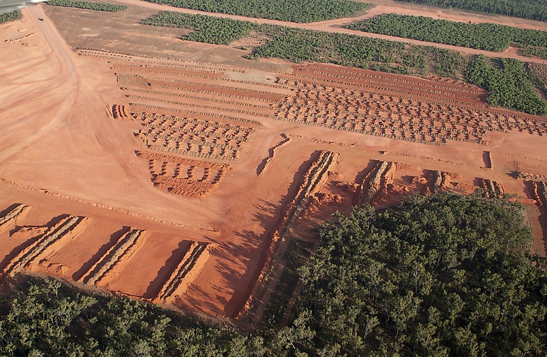 A Bauxite mining facility in Queensland, Australia.