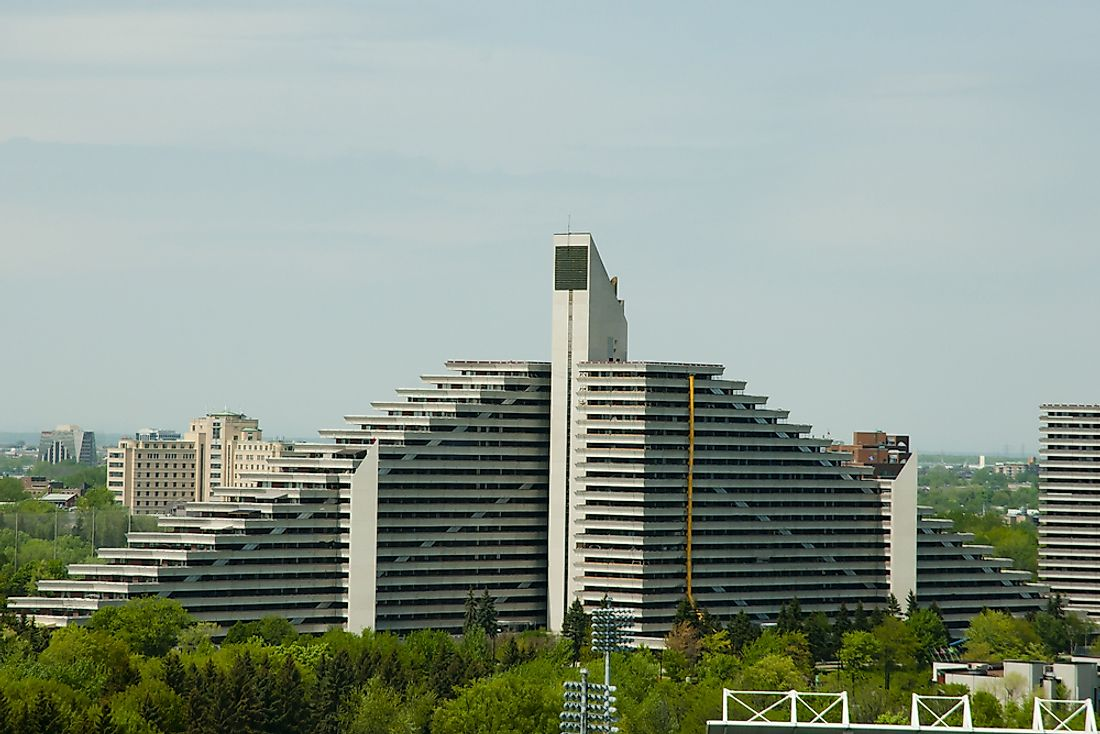 Montreal's Olympic Village built to house the athletes for the 1976 Summer Olympics.