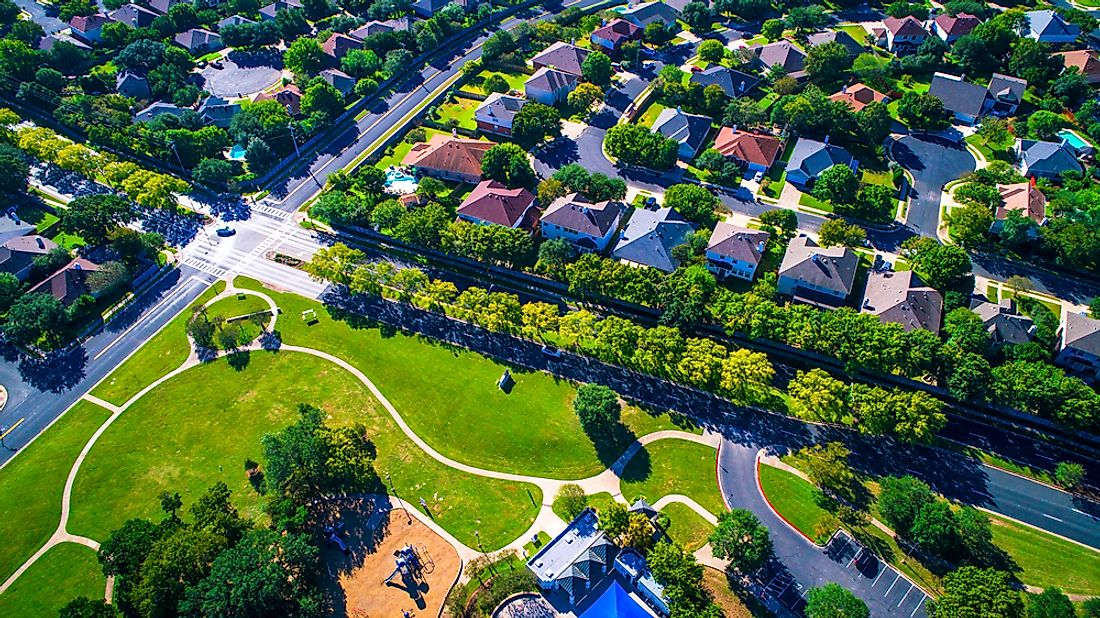 A growing suburb outside of Austin, Texas.
