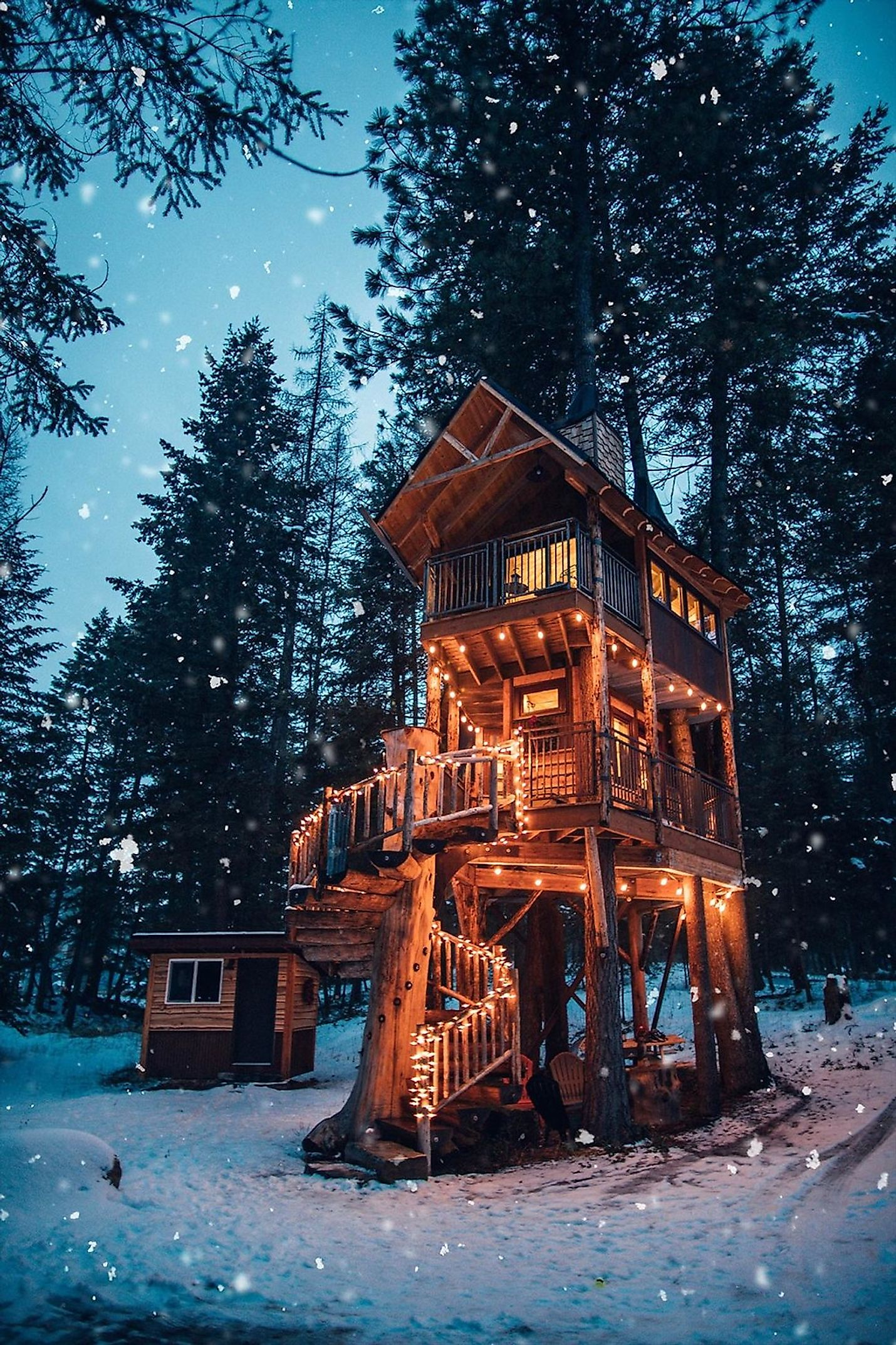 Montana Treehouse Retreat, the United States. Image credit: http://www.montanatreehouseretreat.com