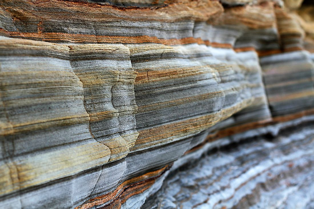 Sedimentary rocks are believed to cover about 73% of the current land on the surface of the earth.