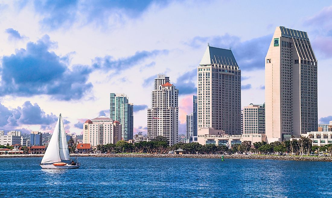 San Diego has more than 150 high rise buildings of which 32 buildings have a height of more than 300 feet.