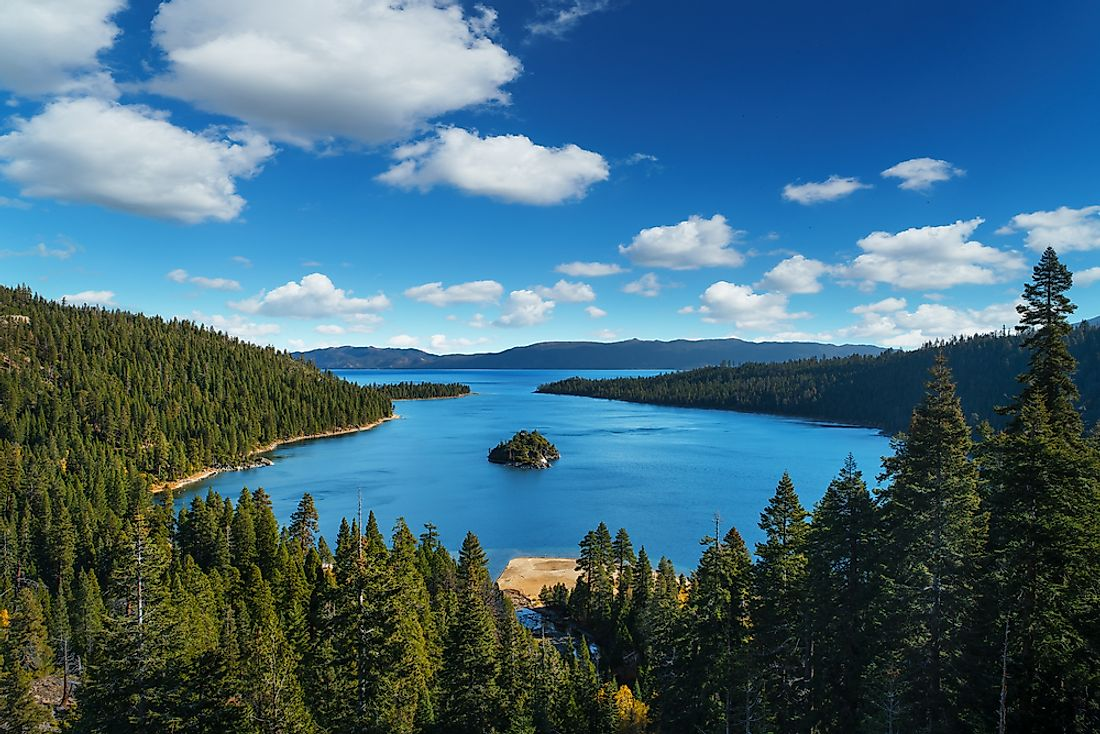 The famous Lake Tahoe is an example of a glacial lake.